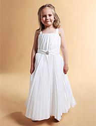cheap -A-line Square Floor-length Taffeta Flower Girl Dress