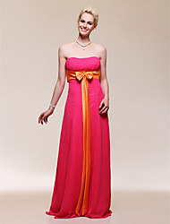 cheap -Sheath/ Column Strapless Floor-length Chiffon Bridesmaid/ Evening Dress