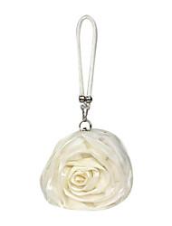 cheap -Women's Flower Satin Evening Bag Gray / Pink / Ivory / Fall & Winter