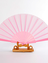 cheap -Pink Silk Hand Fans (set of 6) Wedding Favors Classic Them Chic & Modern
