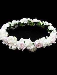 cheap -Lovely Paper Flower Wedding Flower Girl Wreath