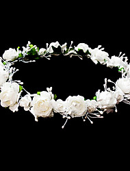 cheap -Headpieces Wedding Flower Girl Wreath With Lovely Flowers