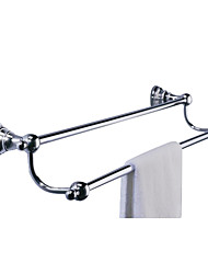 "cheap -Towel Bar Chrome Wall Mounted 65 x 610 x 120mm (2.55 x 24.0 x 4.72"") Brass Contemporary"