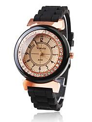 cheap -Women's Wrist Watch Japanese Quartz Black Casual Watch Analog Ladies Sparkle Fashion Dress Watch