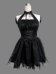 cheap -Princess Gothic Lolita Punk Dress Women's Girls' Cotton Japanese Cosplay Costumes Black Solid Colored Sleeveless Short Length / Gothic Lolita Dress / Punk Lolita Dress