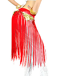 cheap -Belly Dance Belt Women's Performance Polyester Tassel Hip Scarf