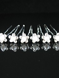 cheap -Imitation Pearl / Alloy Hair Pin with Flower 6pcs Wedding / Special Occasion / Casual Headpiece