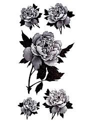 Недорогие -#(5) Временные тату Временные татуировки Тату с цветами / Романтическая серия Одноразового использования / Безопасность Искусство тела Корпус / рука / Стикер татуировки