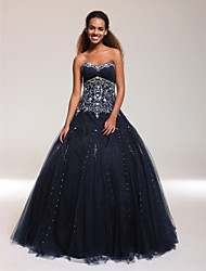 cheap -Ball Gown Sweetheart Floor-length Tulle Prom Dress