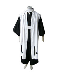 cheap -Inspired by Dead Byakuya Kuchiki Anime Cosplay Costumes Japanese Cosplay Suits / Kimono Patchwork Long Sleeve Vest / Belt / Scarf For Men's / Women's