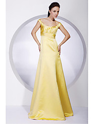 cheap -Ball Gown / A-Line Off Shoulder Floor Length Satin Bridesmaid Dress with Draping