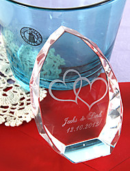 abordables -Cristal Articles en cristal Mariée Parents Mariage Anniversaire Pendre la crémaillère