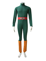 cheap -Inspired by Naruto Rock Lee Anime Cosplay Costumes Japanese Cosplay Suits Patchwork Long Sleeve Leotard / Onesie / Belt / Leg Warmers For Men's