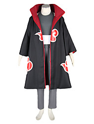 cheap -Inspired by Naruto Kakuzu Anime Cosplay Costumes Japanese Cosplay Suits Color Block Long Sleeve Vest / Pants / Headpiece For Men's / Cloak
