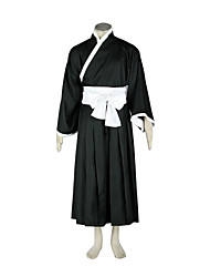 cheap -Inspired by Cosplay Cosplay Anime Cosplay Costumes Japanese Cosplay Suits / Kimono Patchwork Long Sleeve Belt / Kimono Coat / Hakama pants For Men's / Women's