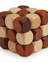 cheap -Wooden Puzzle IQ Brain Teaser Professional Level Speed Wooden Classic & Timeless Boys' Girls' Toy Gift