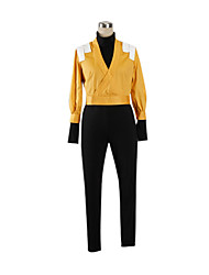 cheap -Inspired by Cosplay Cosplay Anime Cosplay Costumes Japanese Cosplay Suits Patchwork Long Sleeve Coat / Leotard / Onesie / Headpiece For Women's