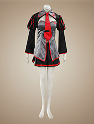 cheap -Inspired by Vocaloid Zatsune Miku Video Game Cosplay Costumes Cosplay Suits / Dresses Patchwork Long Sleeve Coat Skirt Headpiece Costumes / Satin