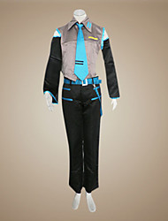 cheap -Inspired by Vocaloid Hatsune Miku / Mikuo Video Game Cosplay Costumes Cosplay Suits Patchwork Sleeveless Shirt Pants Sleeves Costumes / Satin