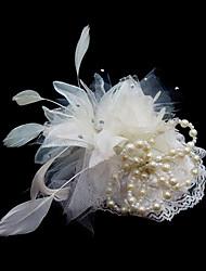 billige -Krystal / Fjer / Stof Tiaras / fascinators / Blomster med 1 Bryllup / Speciel Lejlighed / Fest / aften Medaljon