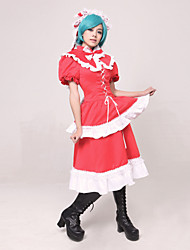 cheap -Inspired by TouHou Project Hina Kagiyama Video Game Cosplay Costumes Cosplay Suits Patchwork Top Costumes