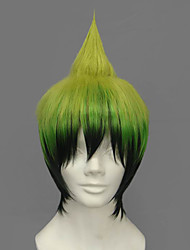 cheap -Blue Exorcist Amaimon Cosplay Wigs Men's 12 inch Heat Resistant Fiber Anime Wig