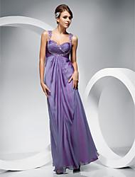 cheap -Sheath/ Column Straps Floor-length Chiffon Evening/Prom Dress