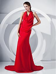cheap -Trumpet/ Mermaid V-neck Court Train Chiffon Evening Dress
