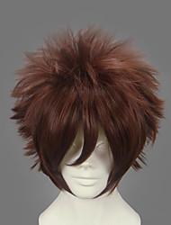 cheap -Naruto Gaara Cosplay Wigs Men's 12 inch Heat Resistant Fiber Brown Anime