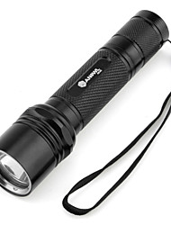 cheap -LED Flashlights / Torch 1000 lm LED LED 1 Emitters 5 Mode Camping / Hiking / Caving / Aluminum Alloy