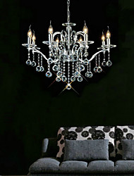 cheap -75 cm Crystal Chandeliers Candle-style Electroplated Modern Contemporary 110-120V / 220-240V