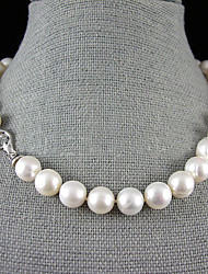 cheap -Women's White Pearl Necklace Y Necklace Pearl Necklace Flower Pearl Sterling Silver White Necklace Jewelry For Wedding Party Anniversary Party / Evening Engagement Gift / Daily