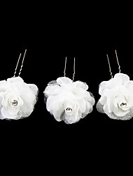 cheap -Crystal / Fabric / Satin Tiaras / Hair Pin with 1 Wedding / Special Occasion / Party / Evening Headpiece / Alloy