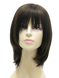 cheap -Human Hair Capless Wigs Straight Straight Bob Layered Haircut Short Hairstyles 2019 Wig Medium Length Black Human Hair 15 inch Women's