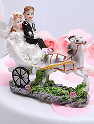 cheap -Cake Topper Garden Theme Vehicle Classic Couple Resin Wedding Bridal Shower with Gift Box