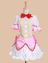 cheap -Inspired by Puella Magi Madoka Magica Madoka Kaname Anime Cosplay Costumes Japanese Cosplay Suits Dresses Patchwork Short Sleeve Dress Bow For Women's