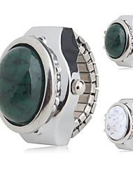 Недорогие -Жен. Дамы Часы-кольцо Японский Кварцевый Серебристый металл Повседневные часы Аналоговый Кулоны Мода - Белый Зеленый