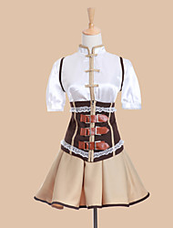 cheap -Inspired by Puella Magi Madoka Magica Tomoe Mami Anime Cosplay Costumes Japanese Cosplay Suits Dresses Patchwork Short Sleeve Vest Blouse Skirt For Women's / Corset / Corset