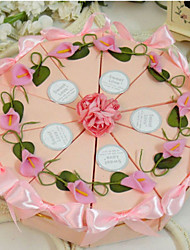 cheap -Round / Square Card Paper Favor Holder with Ribbons / Printing / Flower Favor Boxes - 10