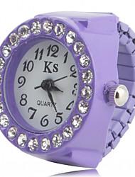 Недорогие -Жен. Часы-кольцо Наручные часы Diamond Watch Японский Кварцевый Черный / Белый / Розовый Имитация Алмазный Дамы Блестящие Мода - Черный Лиловый Розовый Один год Срок службы батареи / SSUO SR626SW