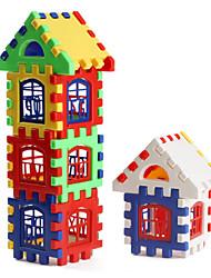 cheap -Colorful House Building Blocks(24pcs)