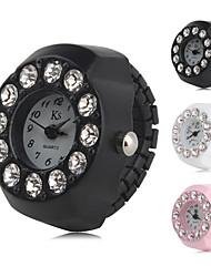 Недорогие -Жен. Часы-кольцо Diamond Watch Японский Кварцевый Черный / Белый / Розовый Имитация Алмазный Аналоговый Дамы Кулоны Мода - Белый Черный Розовый