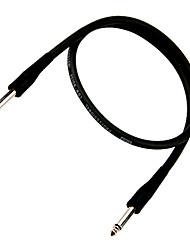 Недорогие -экономические гитарный кабель с пластиковой заглушкой на 6 метров