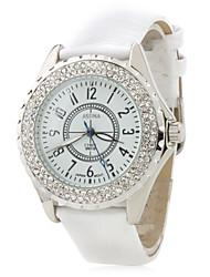 Недорогие -Женские аналоговые кварцевые часы 2430 (белые)