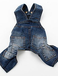 cheap -Dog Pants Dog Clothes Blue Costume Denim Jeans Cowboy Fashion XS S M L XL XXL