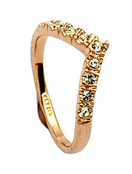 cheap -Women's Statement Ring Ring Crystal Gold Silver Alloy Ladies Daily Jewelry Heart