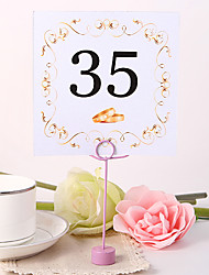 cheap -Place Cards and Holders Square Table Number Card - Ring