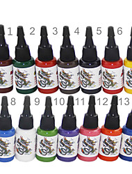 cheap -BaseKey Tattoo Ink 14 x 15 ml Professional - Multi-Color