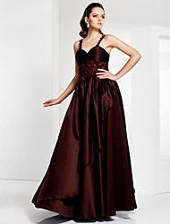 cheap -Ball Gown Elegant Prom Formal Evening Military Ball Dress Sweetheart Neckline Spaghetti Strap Sleeveless Floor Length Organza Satin with Criss Cross Beading 2020
