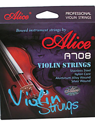 cheap -Alice - (A708) Violin Strings/E-1st Steel Core,A-2nd D-3rd G-4th Nylon Core